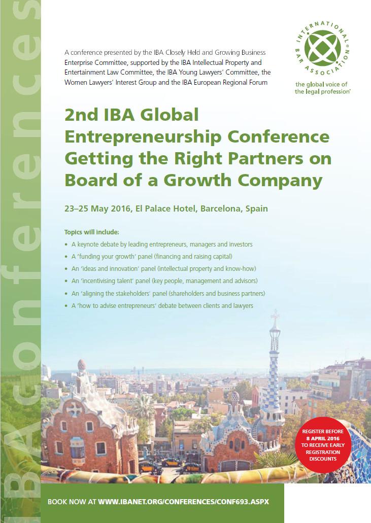 Barcelona Entrepreneurship 2016 prog